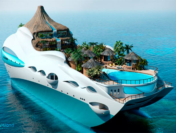Яхта «Плавучий остров»