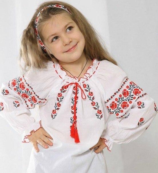 Вышиванка для девочек своими руками
